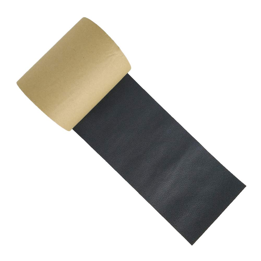 Black Leather Repair Tape Leather Adhesive Patch First-aid for Upholstery Couch Car Seat Jackets Handbags, 4 Inches x 15 Feet Roll by HONGLI