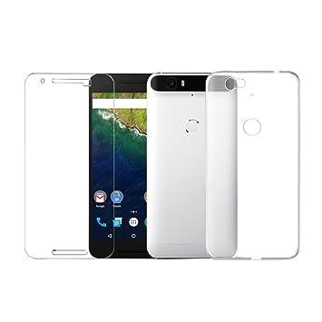 on sale 34bfc d5a1c Amazon.com: fosa TPU Soft Tempered Glass for Huawei Google Nexus ...