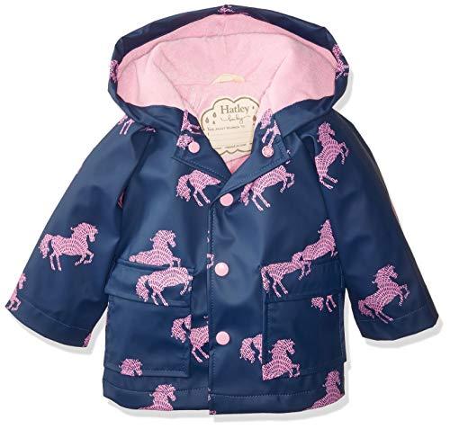 4b77559dd30e Hatley Baby Girls Printed Raincoats, Horse Silhouettes, 9-12 Months