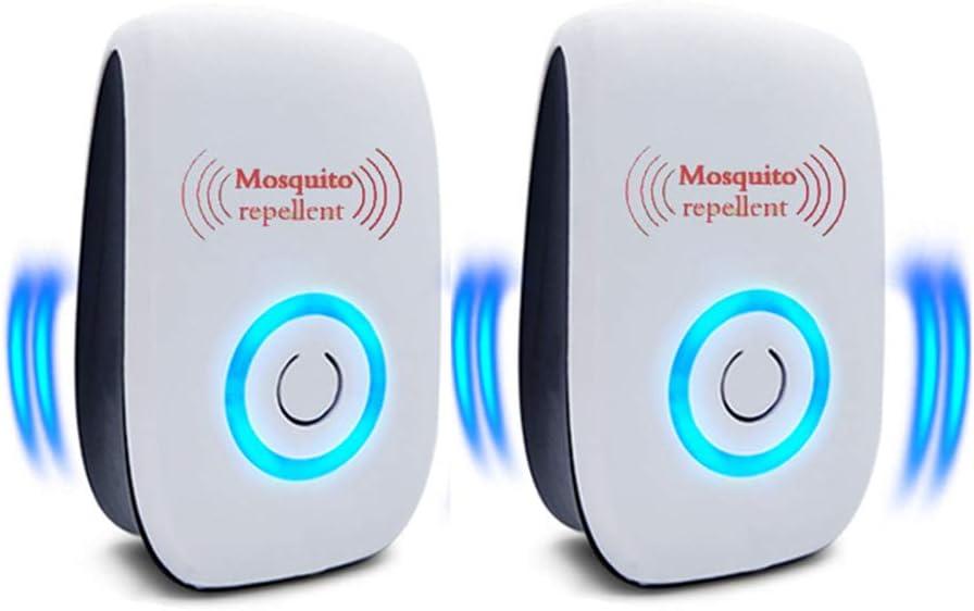 Repelente Ultrasonico, ElectróNico Repelente Mosquitos Repelente UltrasóNico De Plagas, 100% Inofensivo para Mascotas Y Humanos para Interiores Anti Cucarachas, Moscas, Mosquitos, Ratones