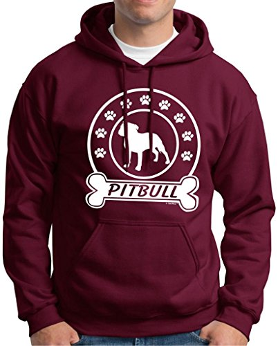 I Love my Pitbull, Dog Bone Premium Hoodie Sweatshirt XXX-Large Maroon