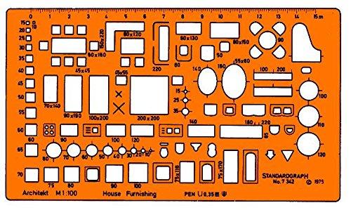 4 opinioni per Standardgraph ST7342- Mascherina geometrica per disegno tecnico, scala 1:100
