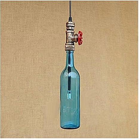 nabotht botellas de cristal lámparas Multicolor industrial del viento Bar Tubos de Agua