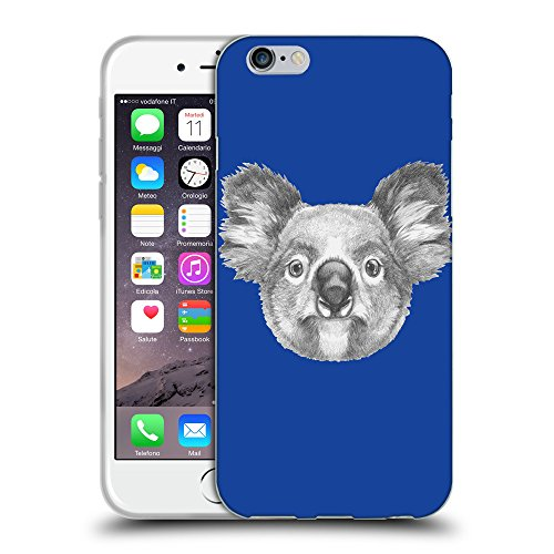 GoGoMobile Coque de Protection TPU Silicone Case pour // Q05150613 Dessin koala Bleu // Apple iPhone 6 4.7""