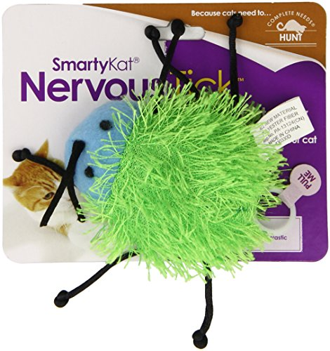 - SmartyKat Nervous Tick Cat Toy Pull-String Motion Catnip Toy