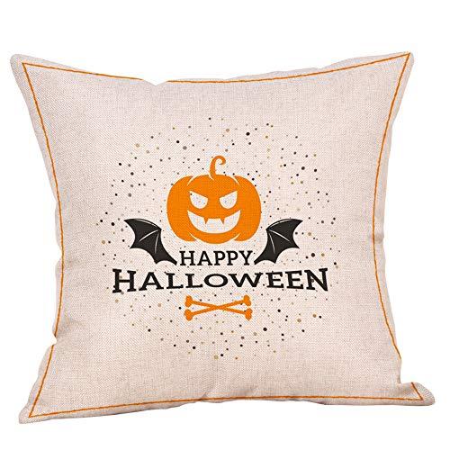 Halloween Home Decor KIKOY Monster Pumpkin Throw Pillow Case Cushion Cover -