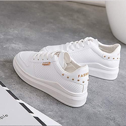 WFCAYDHN RiVet Zapatos Zapatos Blancos Chica Estudiante Aire Casual Zapatos Zapatillas Microfibra Tamaño. Thirty-five