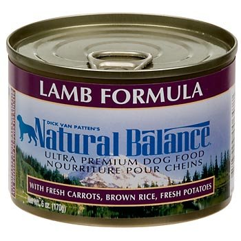 Natural Balance Ultra Premium Lamb Formula Canned Dog Food, Case of 12