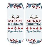 Franterd Women Girl Men 3D Christmas Socks Anti-Slip Floor Carpet Socks Slipper Sock Sports Xmas Socks