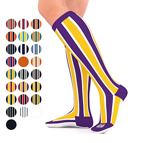Go2Socks GO2 Team Gear Compression Socks for Men Women Nurses Runners 15-20 mmHg (Medium) - Best Performance Recovery Circulation Stamina Maternity Travel - (VK M)