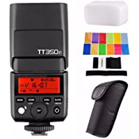Godox TT350F 2.4G HSS 1/8000s TTL GN36 Camera Flash Speedlite for Fuji Cameras X-Pro2 X-T20 X-T2 X-T1 X-Pro1 X-T10 X-E1 X-A3 X100F X100T with EACHSHOT Color Filters