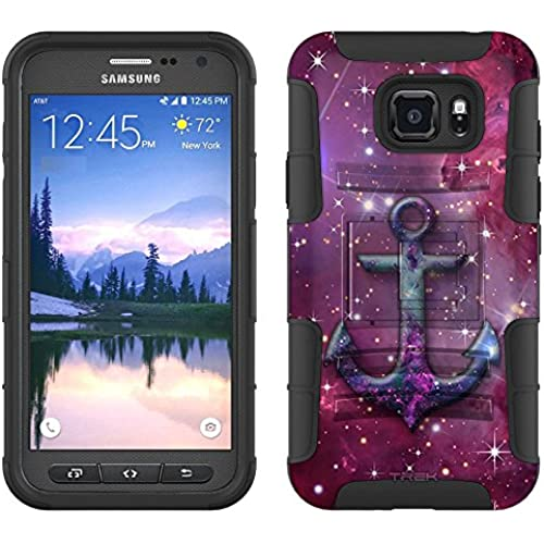 Samsung Galaxy S7 Active Armor Hybrid Case Anchor on Nebula Purple 2 Piece Case with Holster for Samsung Galaxy S7 Active Sales