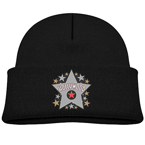 Runningway Kids Hollywood Walk Of Fame Star Knit Warm Beanie Hat Skull Cap Black