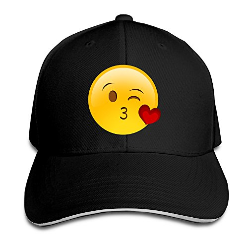 Emoji Kiss Face Cotton Adult Sandwich Peaked Ivy Cap Gift