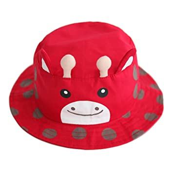 413fb1452a2 Amazon.com  Baby Toddler Fishman Cap Cotton Summer Outdoor Sun Protection  Hat Red  Baby