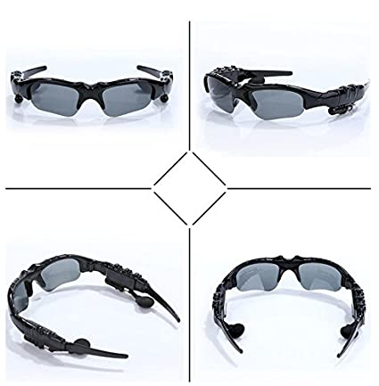 1473b603f3a1 Amazon.com  Newest Fashion Sports Stereo Wireless Bluetooth 4.0 Headset  Telephone Polarized Driving Sunglasses mp3 Riding Eyes Glasses  Sports    Outdoors