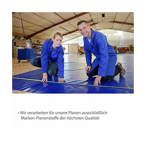 51yNnuBZrJL NEMAXX PLA32 Premium Abdeckplane 300x200 cm blau mit Ösen, 650 g/m² PVC wasserdicht&reißfest - hochwertige Plane…