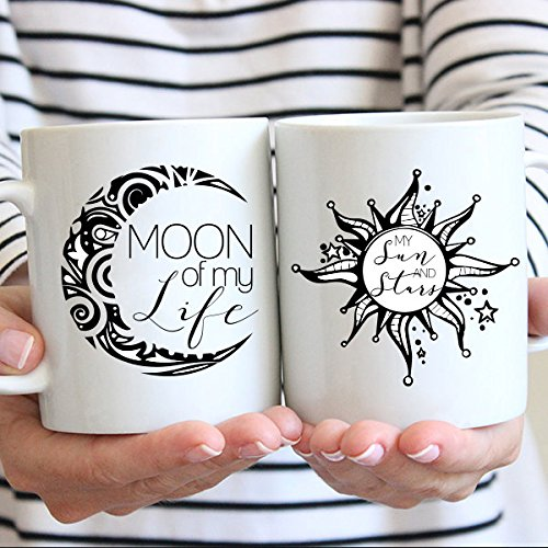 Moon of My Life, My Sun and Stars, Game of Thrones, Couple, Lovers, Marriage Coffee Mug, 11oz, 15oz, - Copper Sun Online