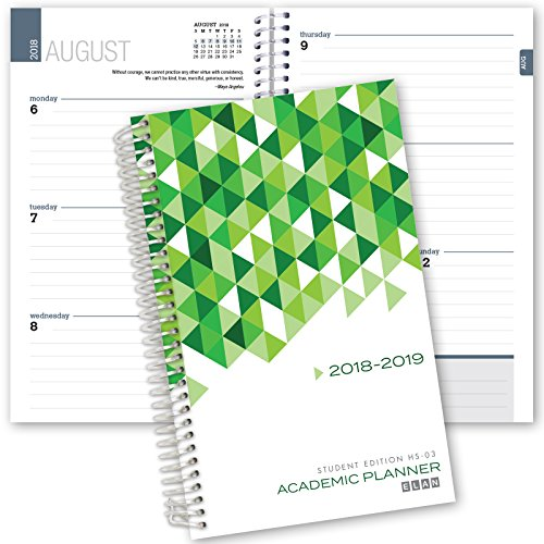 Elan Publishing Company Dated Student Planner for High School of College: August - July Dated for 2018-2019 (HS-03) by Elan Publishing Company