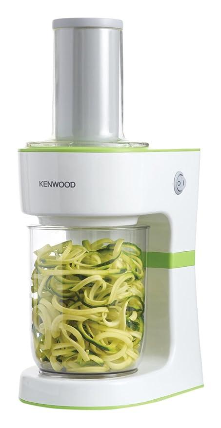 Kenwood FGP203WG Elaborador de pasta vegetal eléctrico, 3 discos de corte, 70 W, Blanco y verde