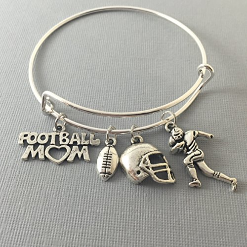 Football Mom Bracelet Gift for - Team Bobble Mom Head