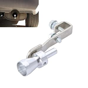 Turbo sifflement imitation - SODIAL(R)Turbo Sound Whistle Exhaust Pipe Tailpipe BOV Blow-off Valve Simulator Aluminum Size (S)