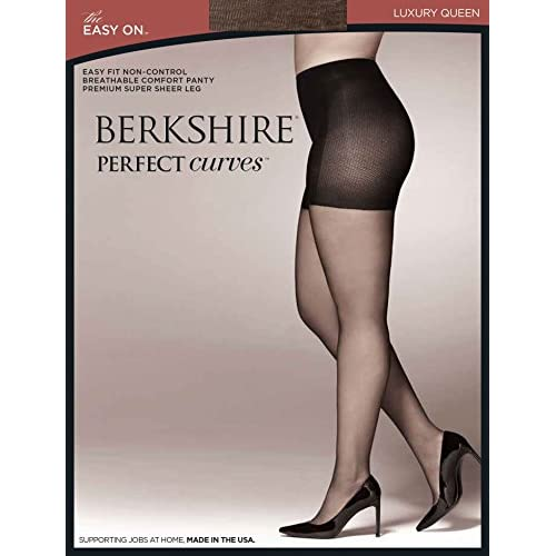 Nice Berkshire Women's Plus-Size Queen Perfect Curves Easy On Pantyhose for cheap