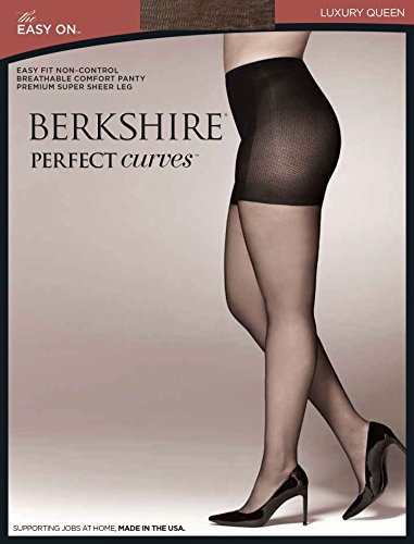 Berkshire Queen Perfect Curves Easy On Pantyhose, French Coffee, Queen Petite