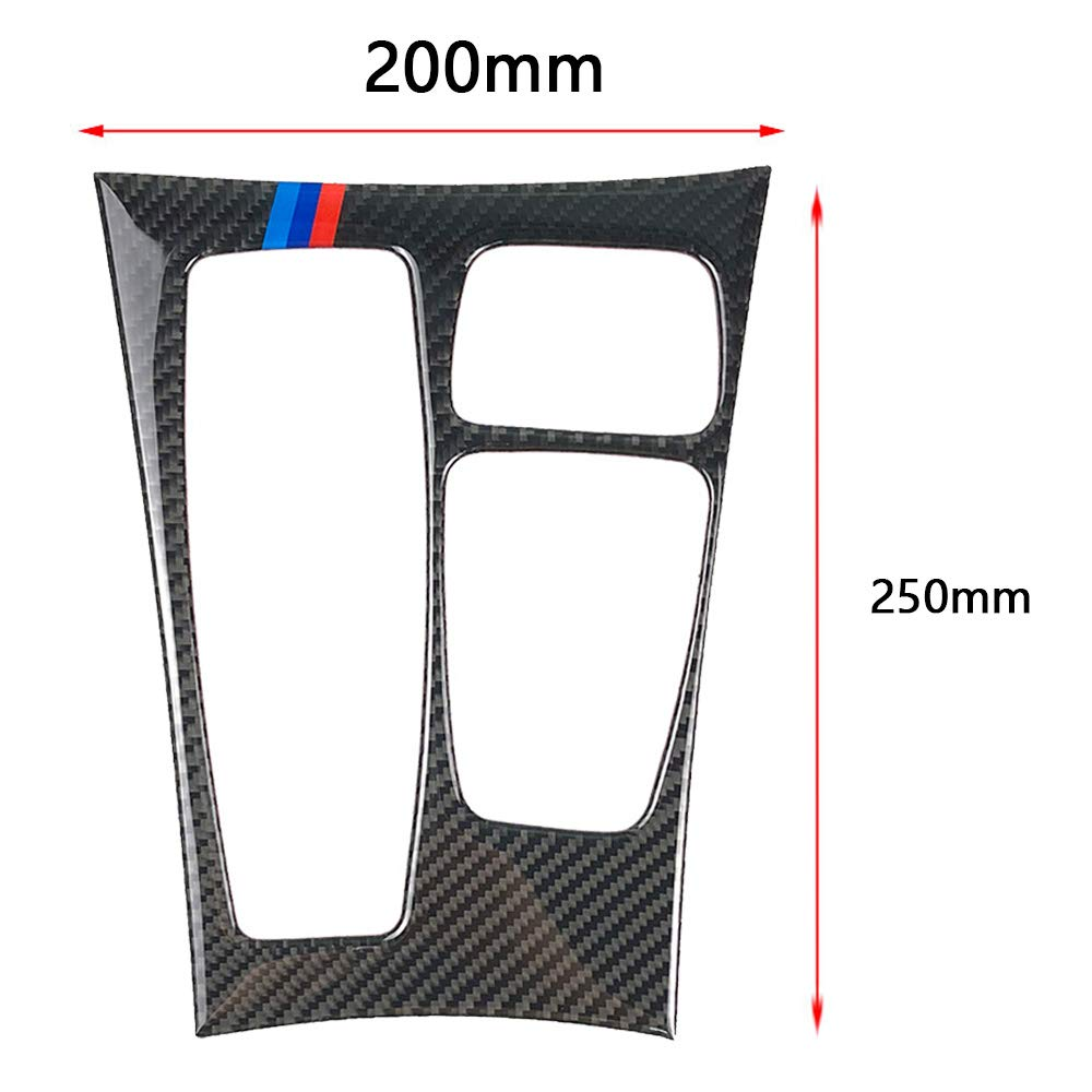 Ancher Car Carbon Fiber Gear Shift Box Cover Trim Decor Sticker for BMW X5 X6 E70 E71 for High Configuration with M Stripe