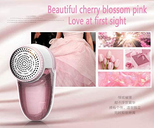 Lefran Hairy Clothes Hairball Trimmer,fabric Shaver,rechargeable Go Hair Hairball Clothing Hair Removal Vessel Epiling Machine Household Pink And White