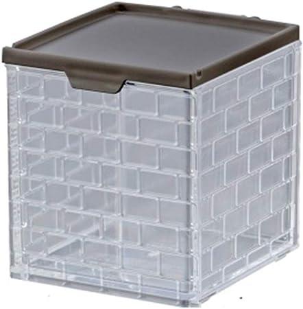 GJF La Botella de condimento de plástico de la Caja Grande de condimento de Cocina Lata la Caja de Almacenamiento de condimento del hogar 430ml (Color : Negro): Amazon.es: Hogar