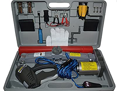 Electric Scissor Jack 12v w/ Impact Wrench 12v - Flat Tire Changing Kit (Powered by 12v DC)