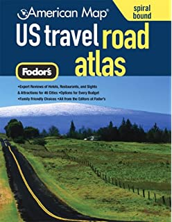 american map us travel road atlas