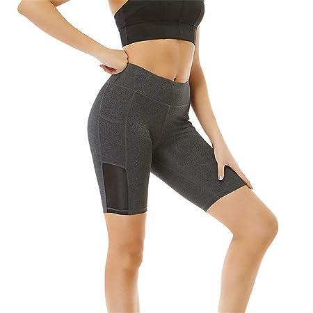 Mujer Mallas Shorts de Yoga, Pantalones cortos de capri de ...