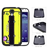 Honda JDM Series Rubber Silicone Phone Case Cover Samsung Galaxy s4 sIV I9500 (Yellow)
