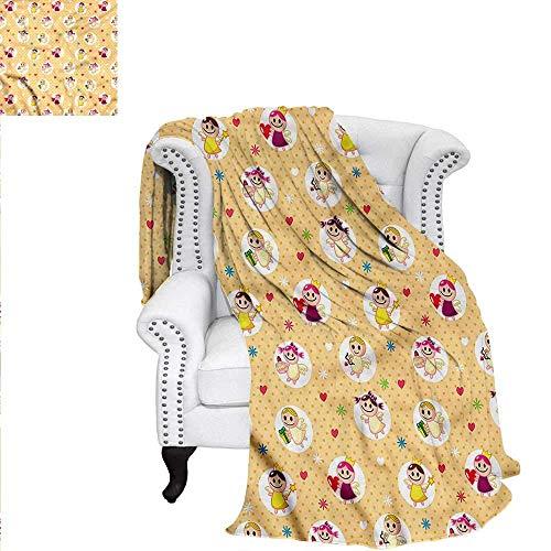 ALLMILL Angel Throw Blanket Childhood Baby Toddler Blanket 9