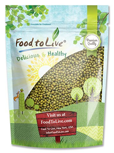 Mung Beans by Food to Live (Green, Dried, Kosher, Bulk) — 3 Pounds