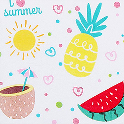 Fruit Napkins - Bilipala 40 Count Summer Fruits Pineapple Watermelon Paper Napkins Slice Party 2-Ply Paper Napkins for Wedding Baby Shower Birthday Party