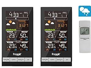 Froggit WH2800 Termómetro doble con sensor de radio (2 pantallas)