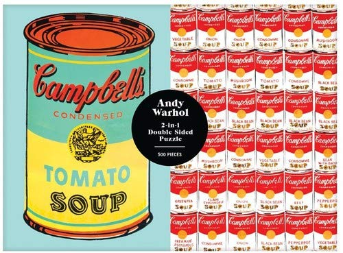 (Galison Andy Warhol Soup Can 2-Sided 500 Piece Puzzle)