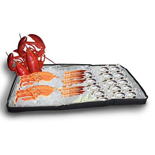 Duraviva Insulated Food & Drink Party Serving Tray Portable Foldable Cooler for Beverages, Buffet, Picnic, BBQ, Salad Seafood Bar by Duraviva (Image #5)