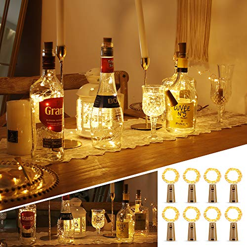 Cork Lights for Bottles, STANBOW Wine Bottle Lights Cork Copper Wire LED Fairy Lights, Battery Operated String Lights…