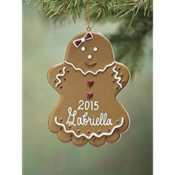 Amazon.com: Miles Kimball Personalized Girl Gingerbread Ornament ...