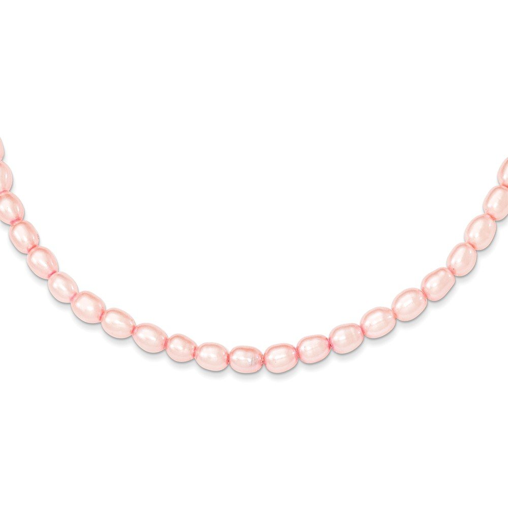 Sterling Silver Pink 4-4.5mm FW Cultured Pearl Necklace