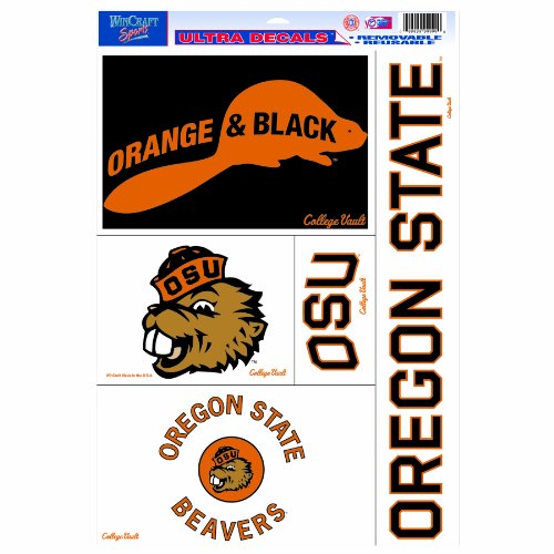 NCAA College Vault Oregon State Beavers 11/17-Inch Ultra Decal Multiple Designs