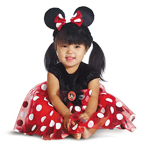[UHC Disney Girl's Minnie Infant Toddler Red Mouse Dress Child Halloween Costume, 12-18M] (Baby Girl Marvel Costumes)
