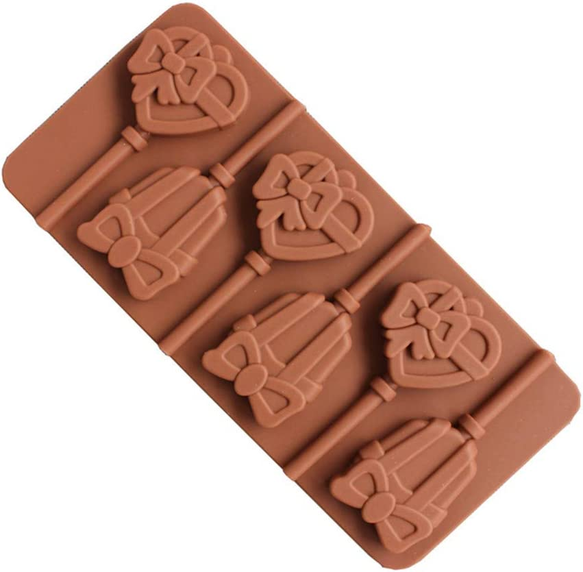Silicone Party Cake Cookie Candy Chocolate Lollipop Pop Mold Mould Baking Tray