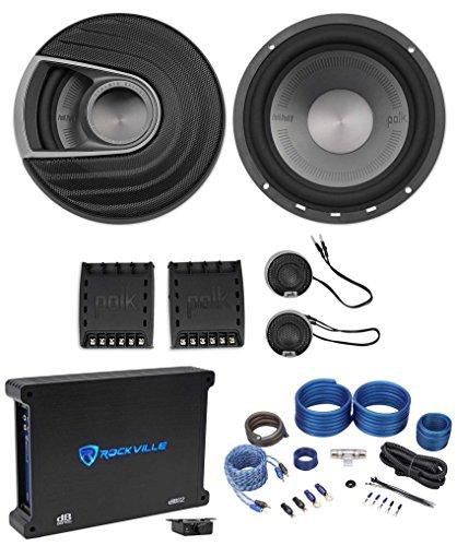 Polk Audio MM6502 6.5 750 Watt Component Car Speakers+Free S