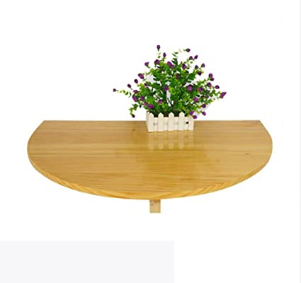 Half Rond Side Table.Amazon Com Wood Wall Hanging Folding Table Half Round Wall