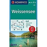 Weißensee: 4in1 Wanderkarte 1:25000 mit Panorama und Aktiv Guide inklusive Karte zur offline Verwendung in der KOMPASS-App. Fahrradfahren. Skitouren. Langlaufen. (KOMPASS-Wanderkarten, Band 60)